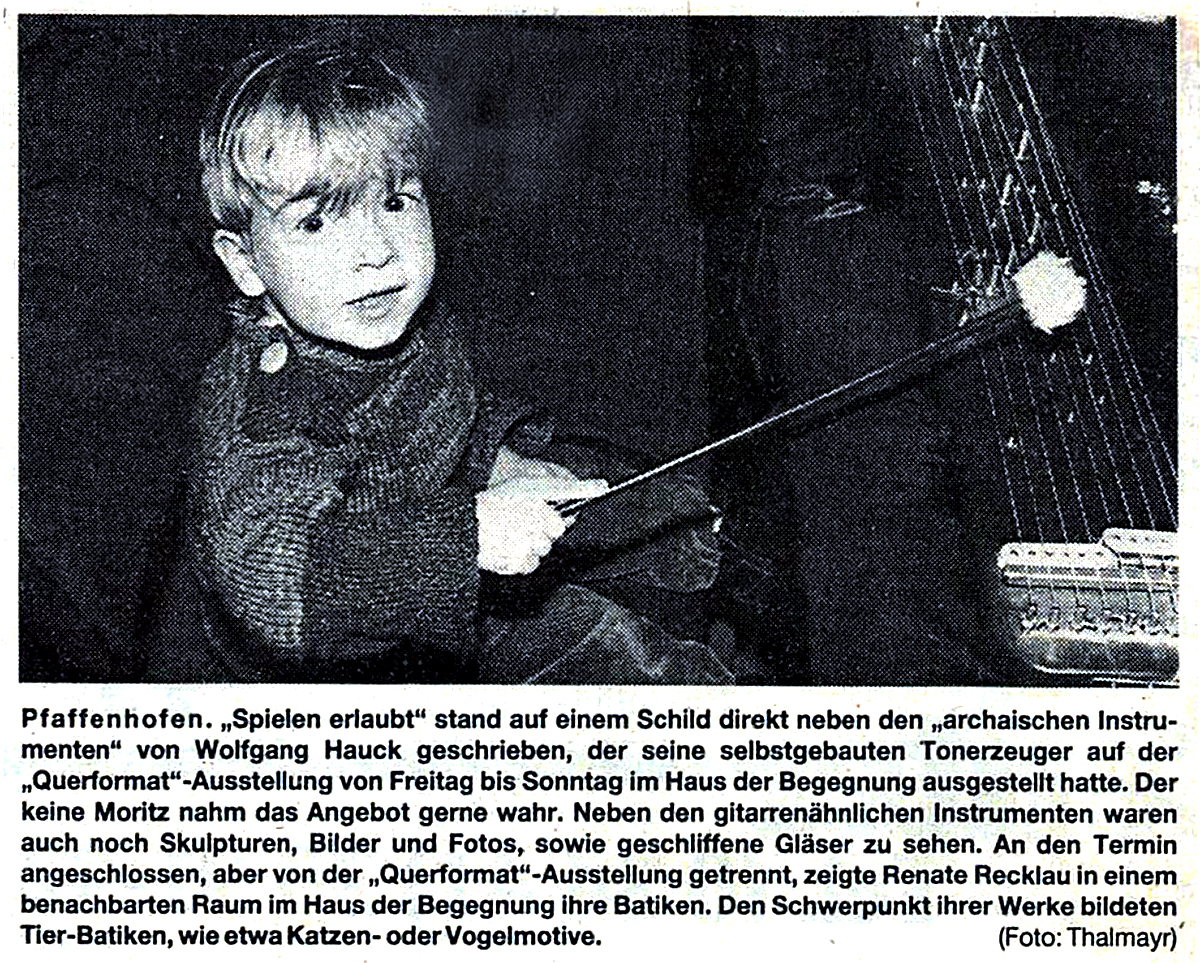 1984 Wolfgang Hauck Playing allowed